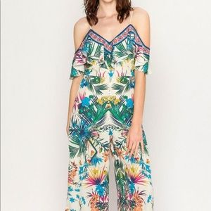 Flying Tomato Dresses - Flying Tomato Tropical Floral Jumpsuit Size S